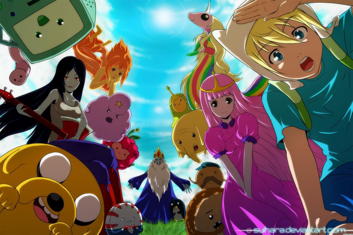 Several Anime And Cartoon Characters