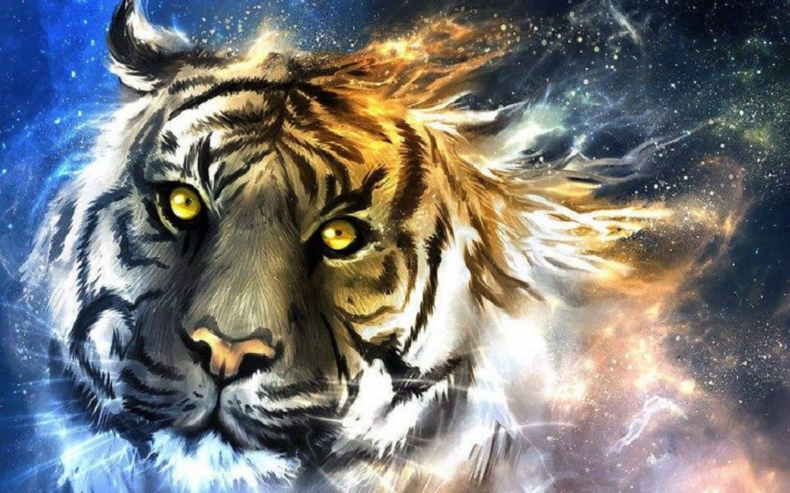 Download Wallpaper An abstract tiger head - Creative wild animals