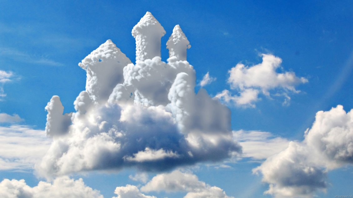 Download Wallpaper Princess castle in the clouds - HD wallpaper