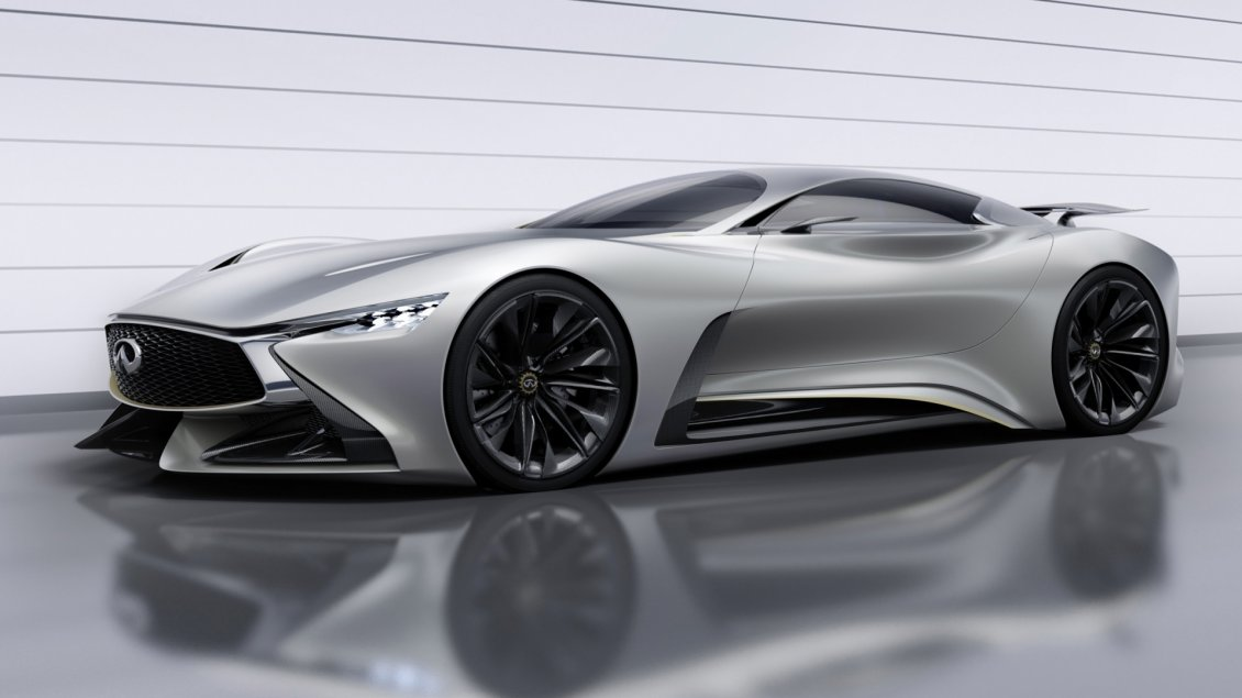 Download Wallpaper Gray Infiniti Concept Vision Gran Turismo
