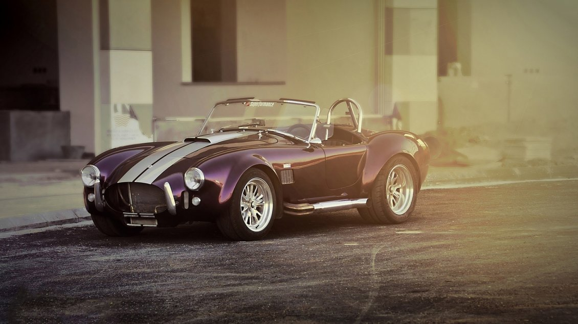 Shelby Cobra Ac Convertible Purple Car