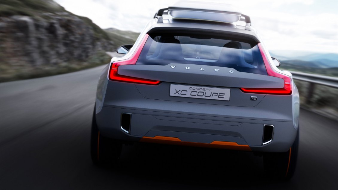 Download Wallpaper Gray Stunning Volvo Concept XC Coupe