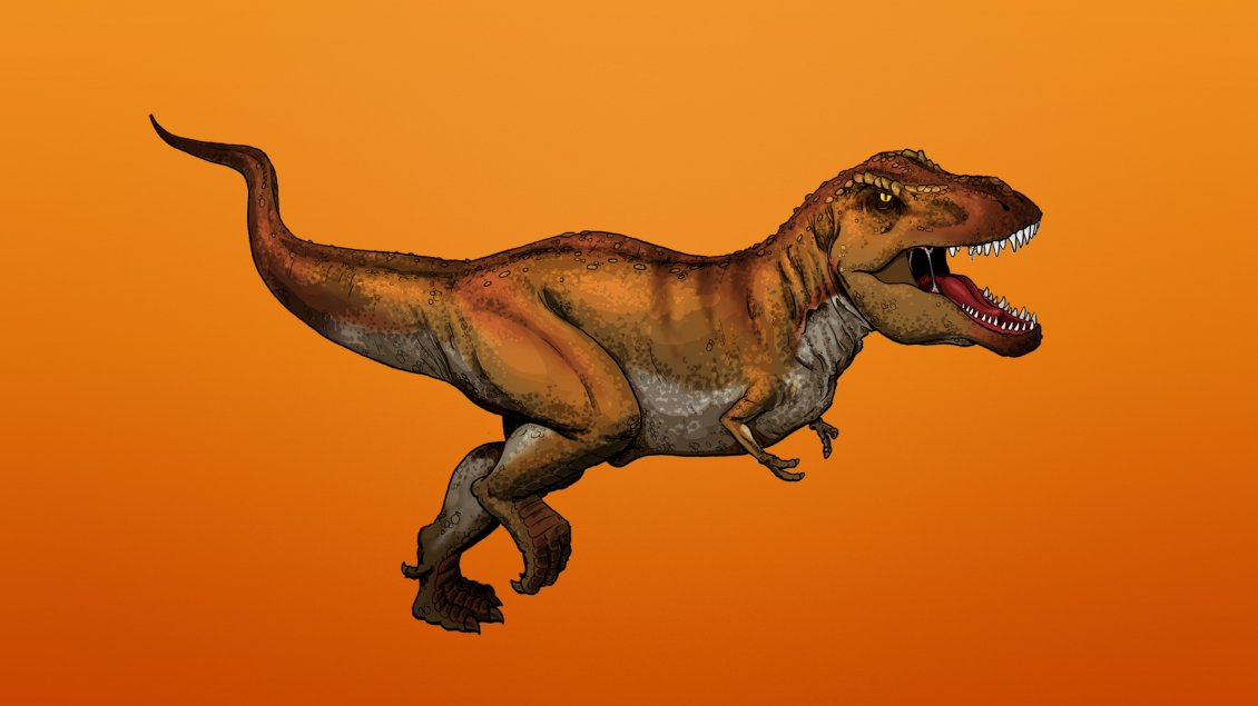 Download Wallpaper Painting with tyrannosaurus Rex
