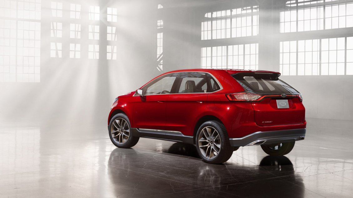 Download Wallpaper Red Ford Edge Concept in a garage