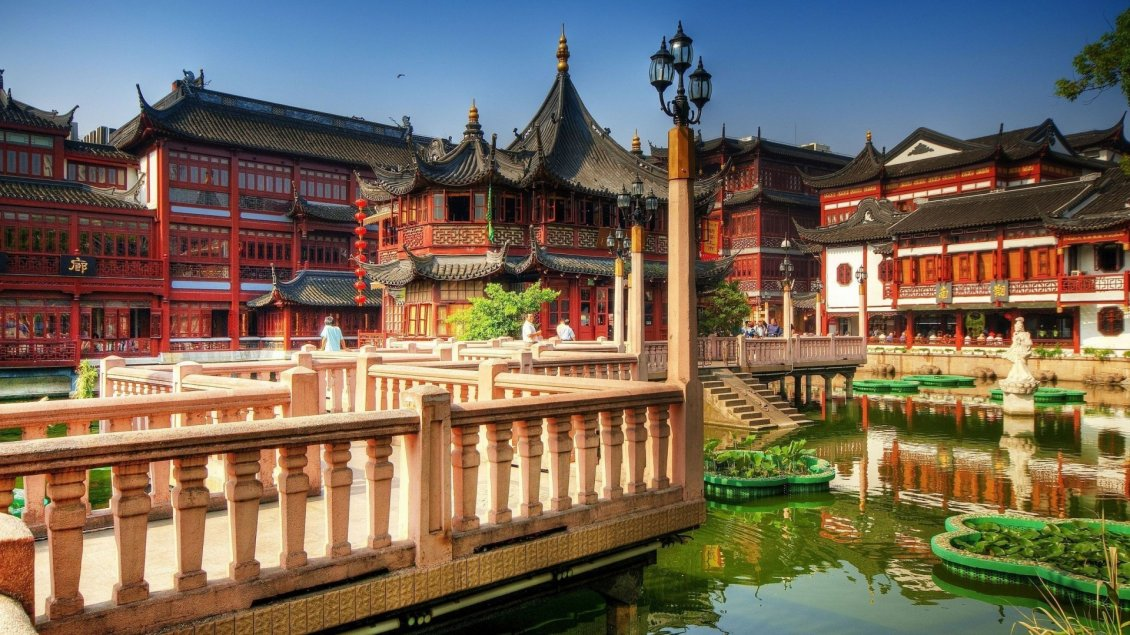 Download Wallpaper Tea Palace from Shanghai - Beautiful building