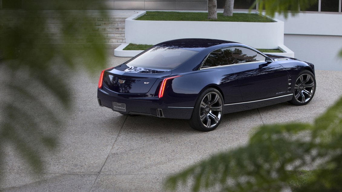Download Wallpaper Stunning blue Cadillac Elmiraj Rear