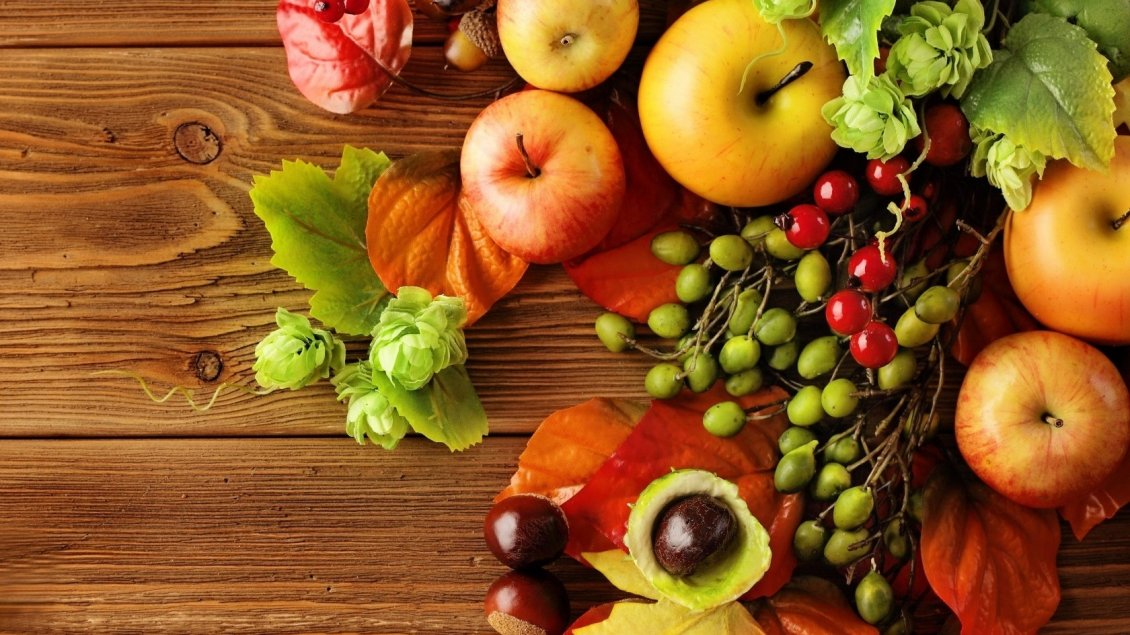 Healthy Hd Fruit Basket Wallpaper: Many Autumn Products