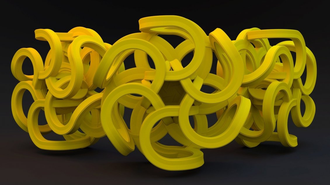 Download Wallpaper Yellow roller coaster - Abstract 3D wallpaper
