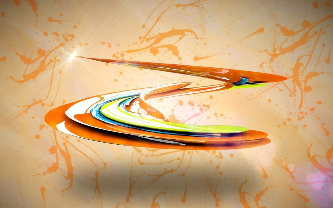 Download Wallpaper Shiny colorful paint swirl - 3D wallpaper