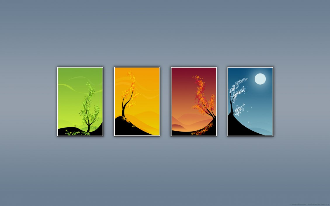 Download Wallpaper The four season in a year - HD wallpaper