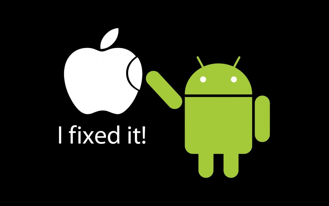 Download Wallpaper Cartoon For Android - 11310_Apple-vs-Android-I-fixed-it-Funny-wallpaper  Image_829013  .jpg