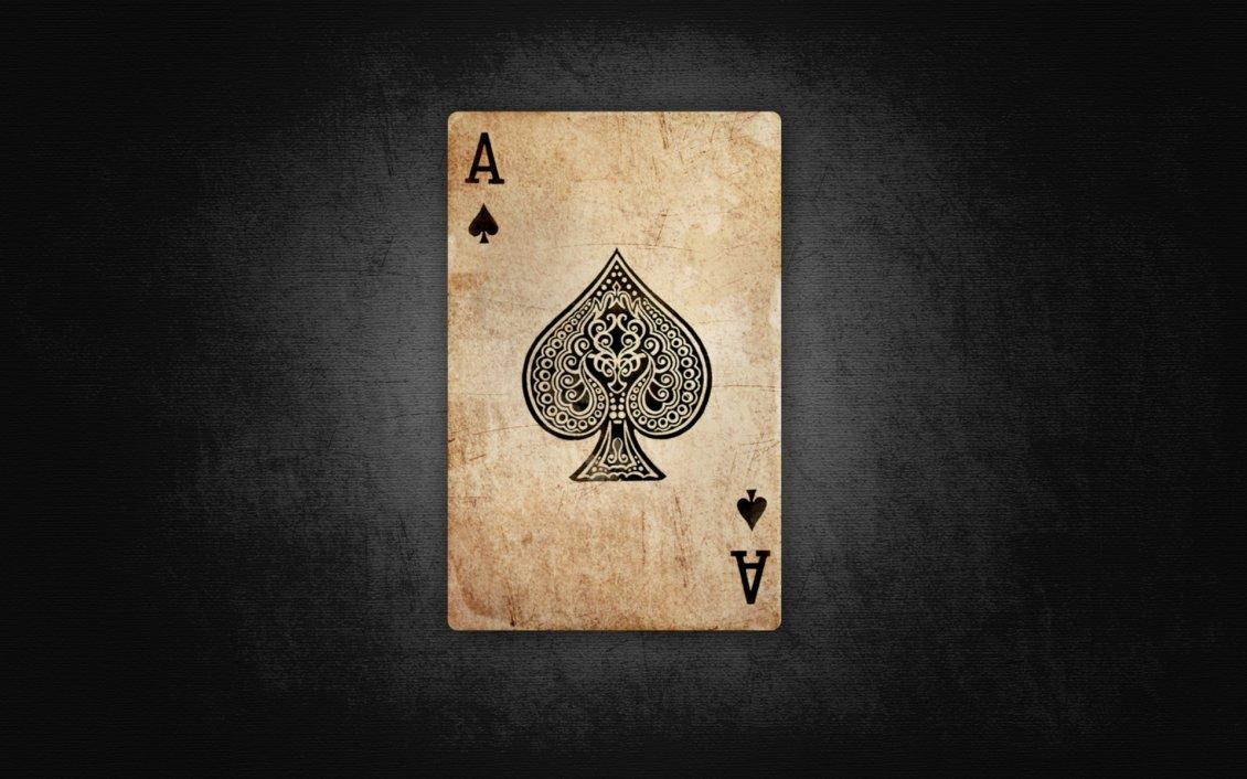 Download Wallpaper Poker time - dirty ace of spades