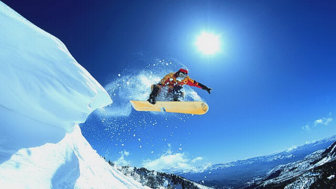 Download Wallpaper Snowboarding jumps - beautiful winter sports