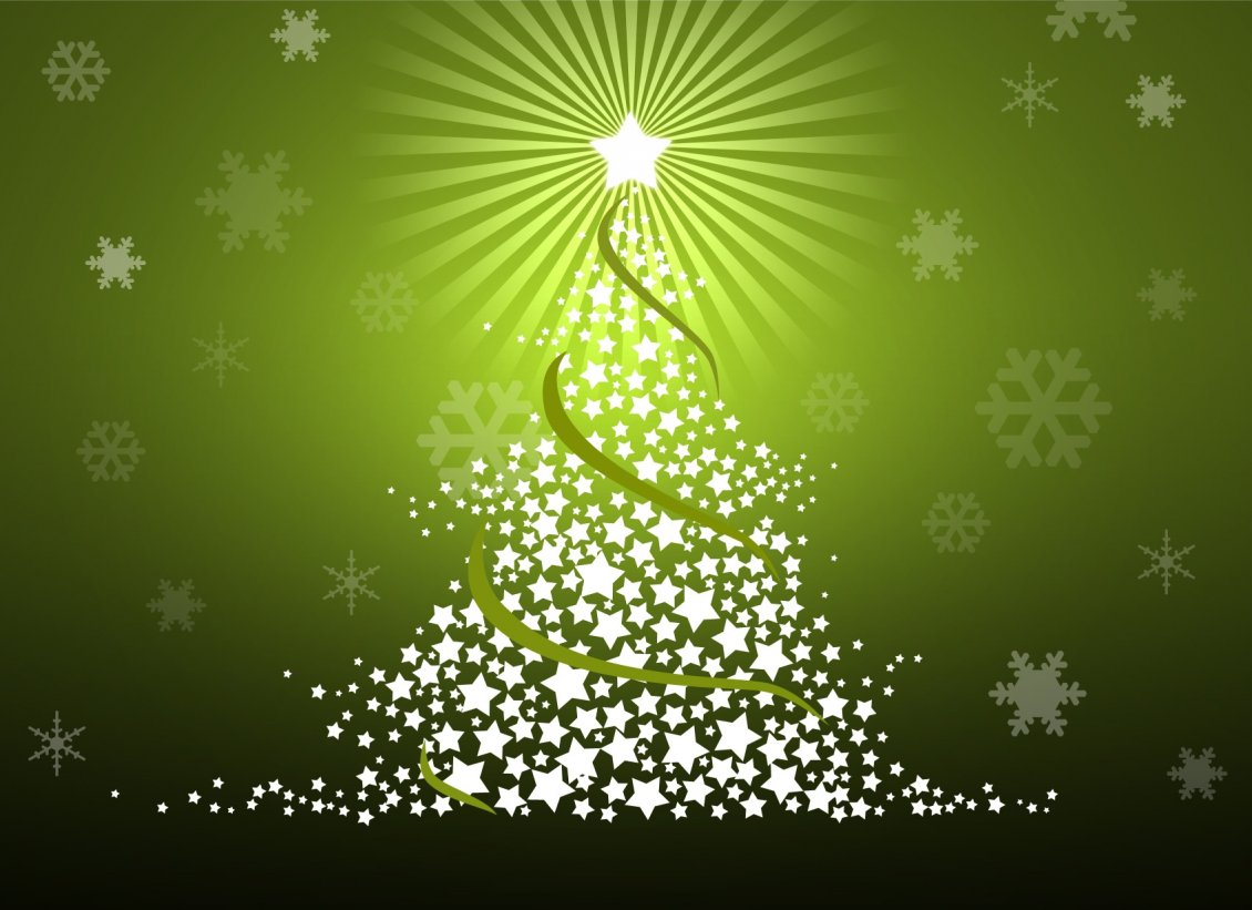 Trees Made Of Special Christmas Stars Hd Wallpaper