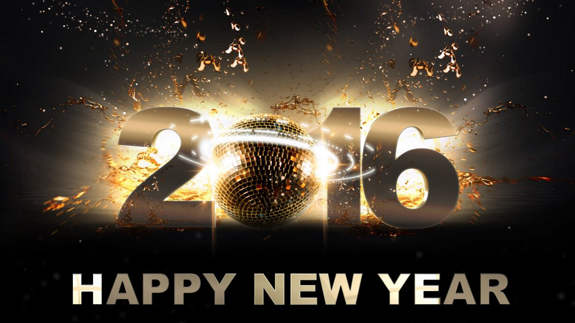 Download Wallpaper Happy New Year 2016 - Disco night