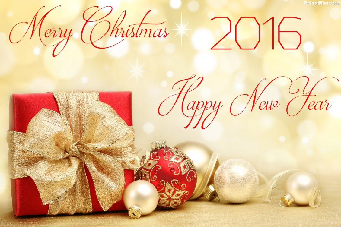 Download Wallpaper Merry Christmas And A Happy New Year