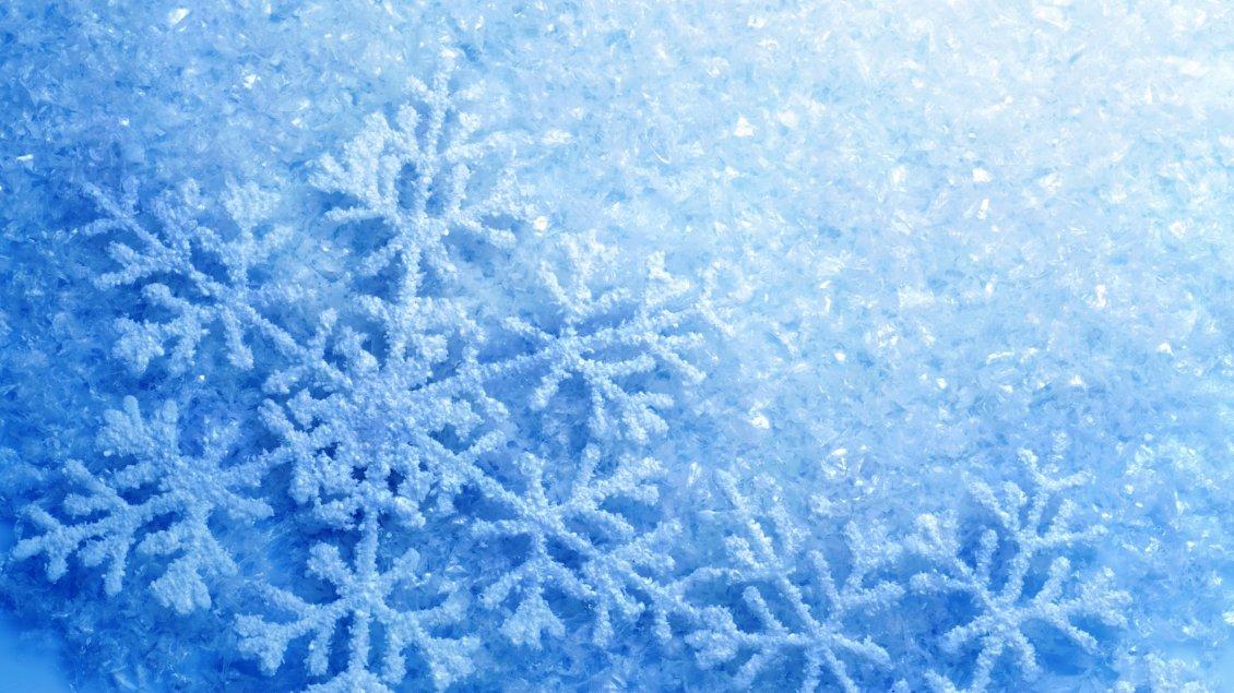 Perfect Snowflake Frozen Blue Snow