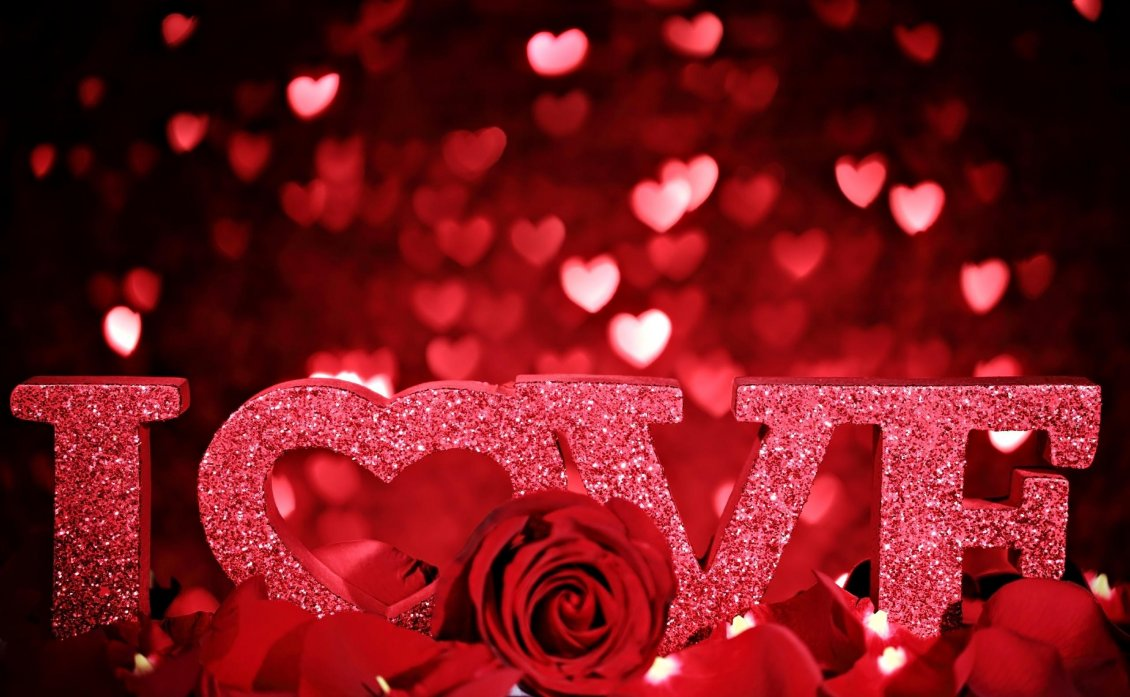 I Love You Beautiful Red Wallpaper Happy Valentine S Day