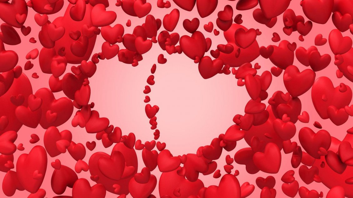 Download Wallpaper Magic of love - red heart for Valentine's Day