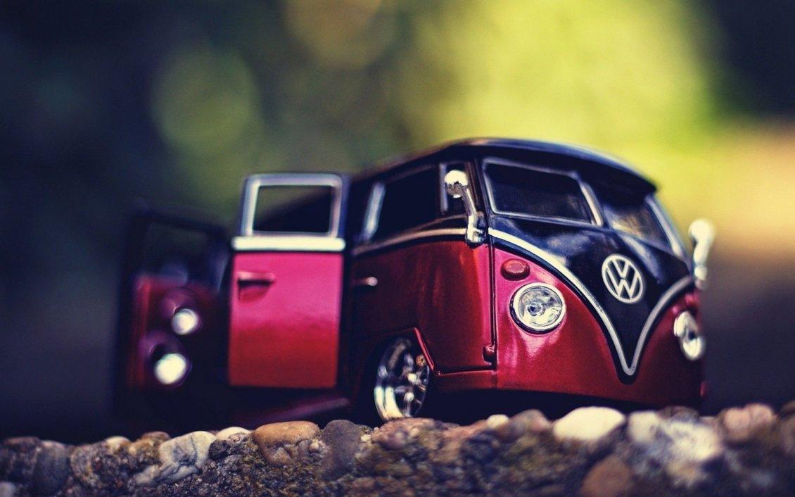 volkswagen toy car - macro beautiful wallpaper