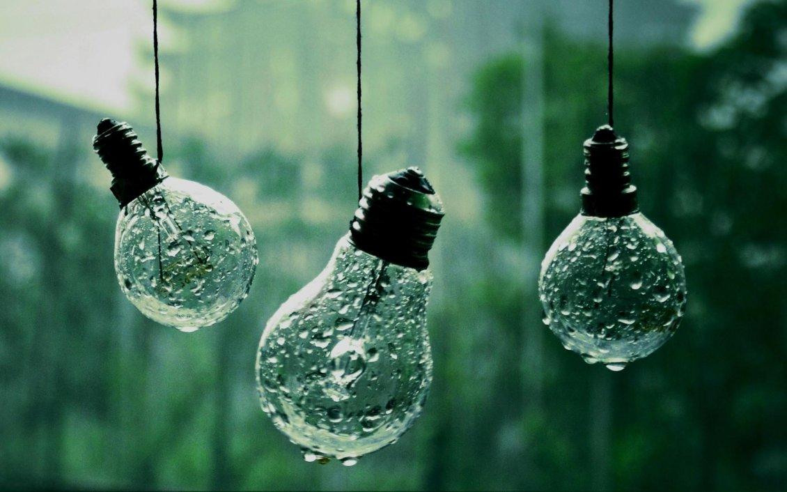 Abstract Wallpaper Rain On The Bulb