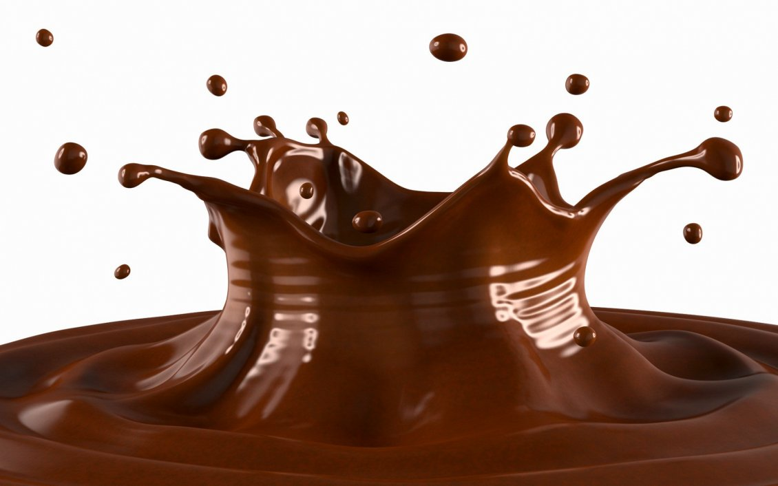 Download Wallpaper Chocolate splash - delicious wallpaper