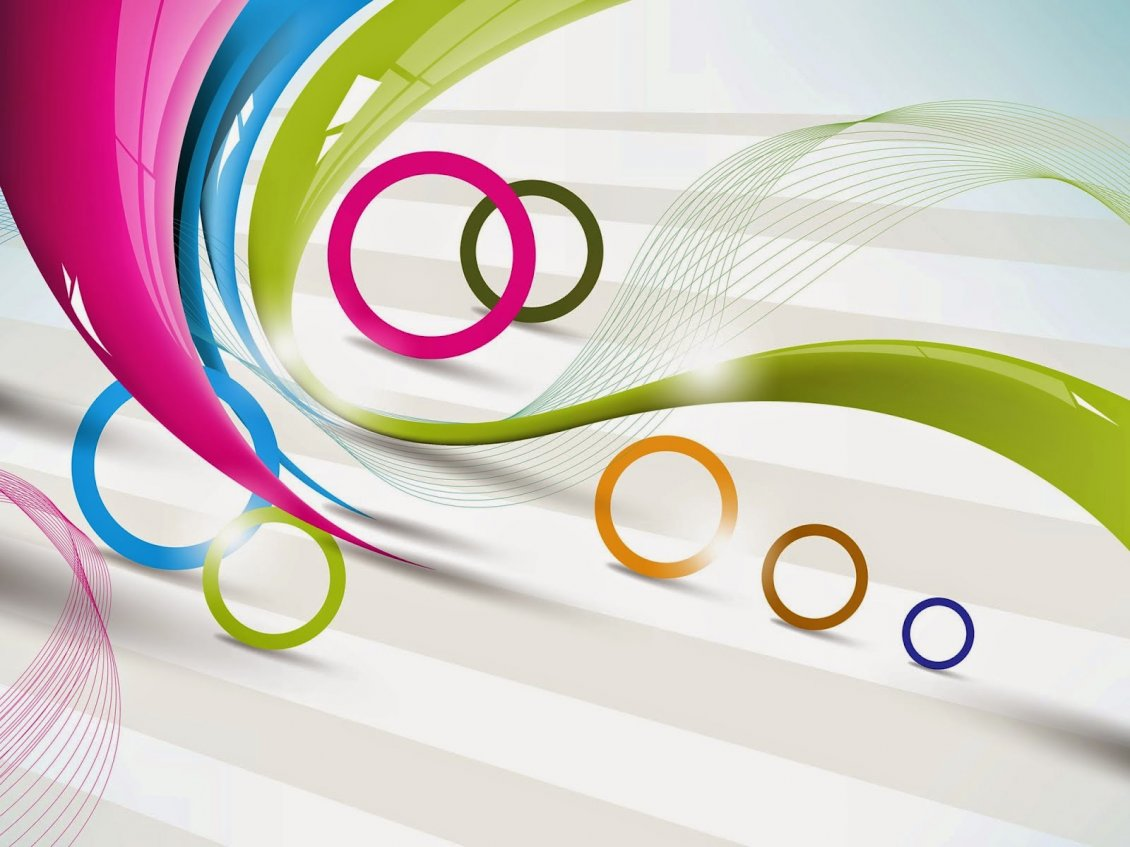 circles and lines - hd vector and art design wallpaper