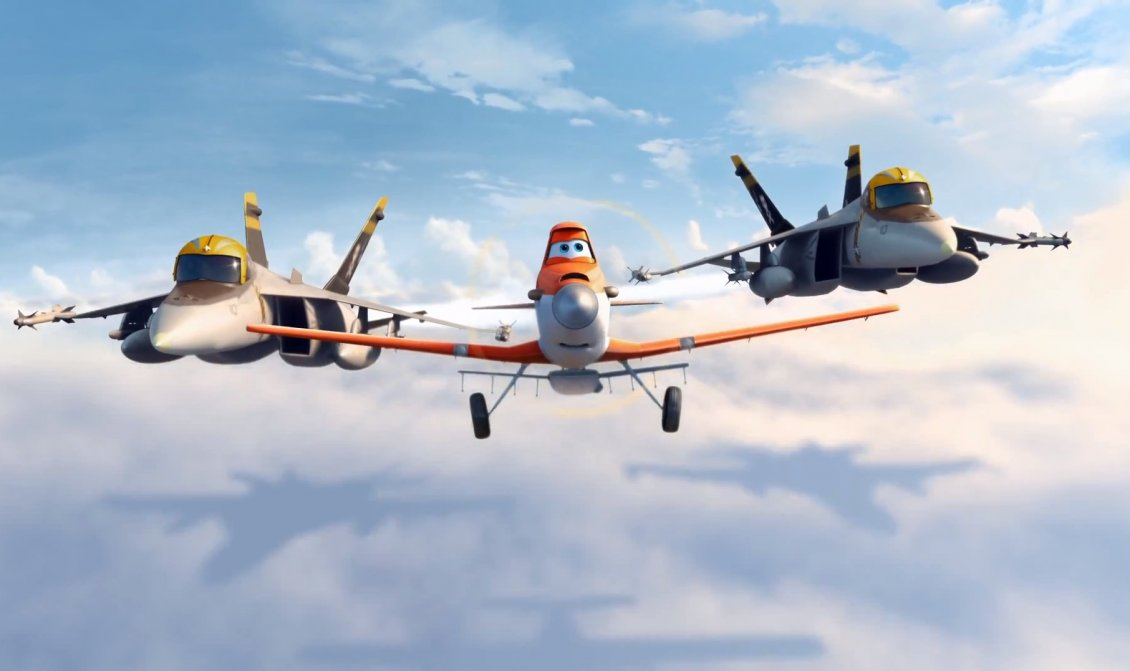 Three Funny Planes In The Sky Disney Film Planes