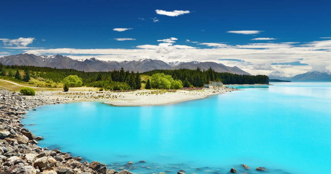Download Wallpaper Wonderful blue water - magic place for summer holiday