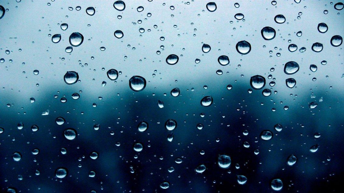 Big Water Drops On The Window