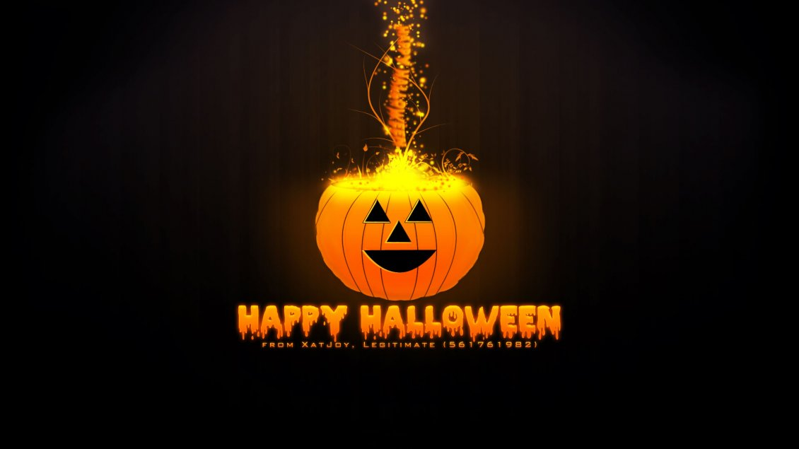 Download Wallpaper Pumpkin on fire - Happy Halloween 2016
