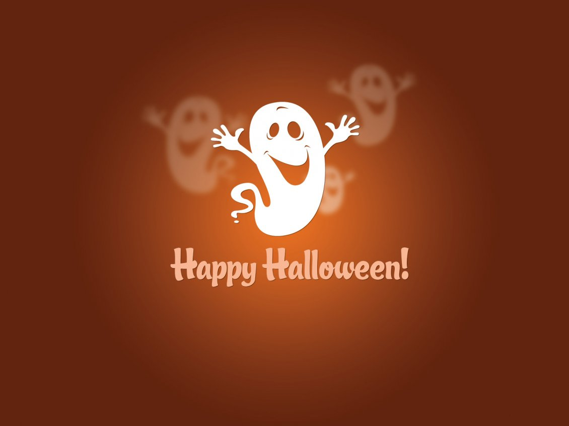 Download Wallpaper Funny ghost in the Halloween night