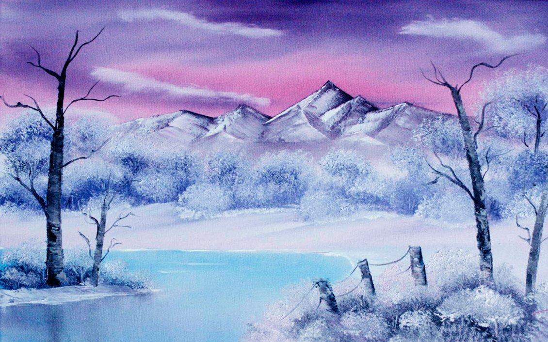 Wonderful winter painting hd nature wallpaper - Wallpaper hd nature winter ...