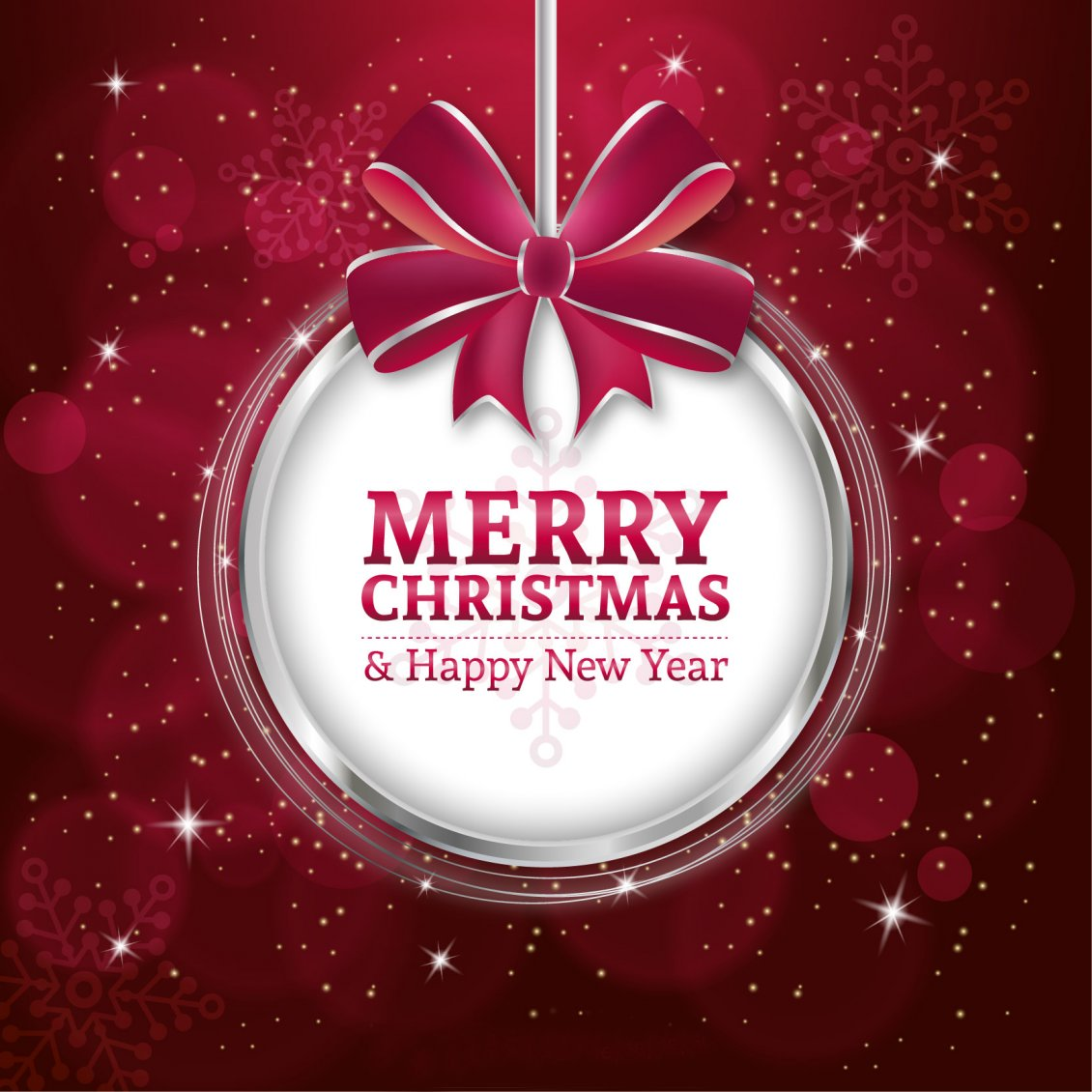 Wonderful red wallpaper - Merry Christmas and Happy New Year