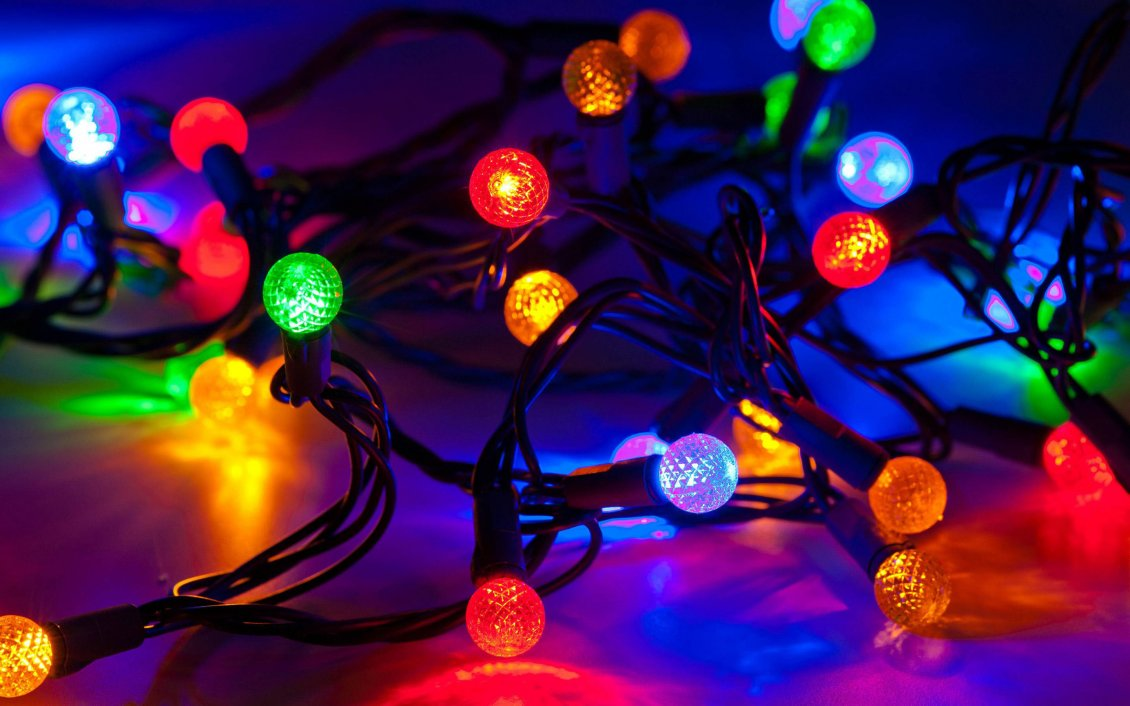 Download Wallpaper Colorful Christmas lights - Magic moments