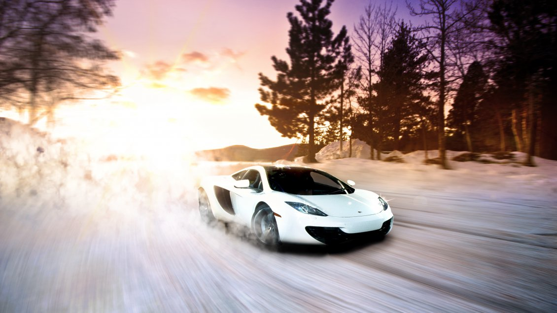 Download Wallpaper Take a ride with a wonderful white Lamborghini car