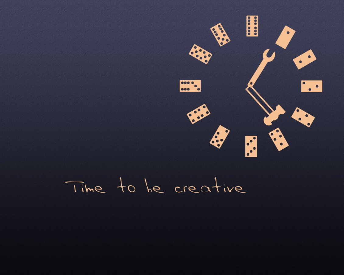 Download Wallpaper Domino clock - time to be creative