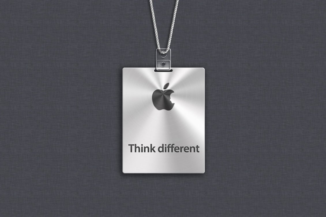 apple logo - think different - hd wallpaper