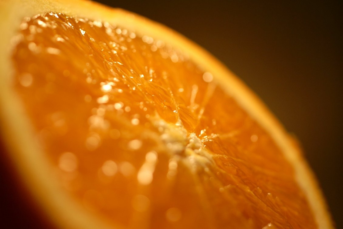 Download Wallpaper Blurry orange fruit - HD Macro wallpaper