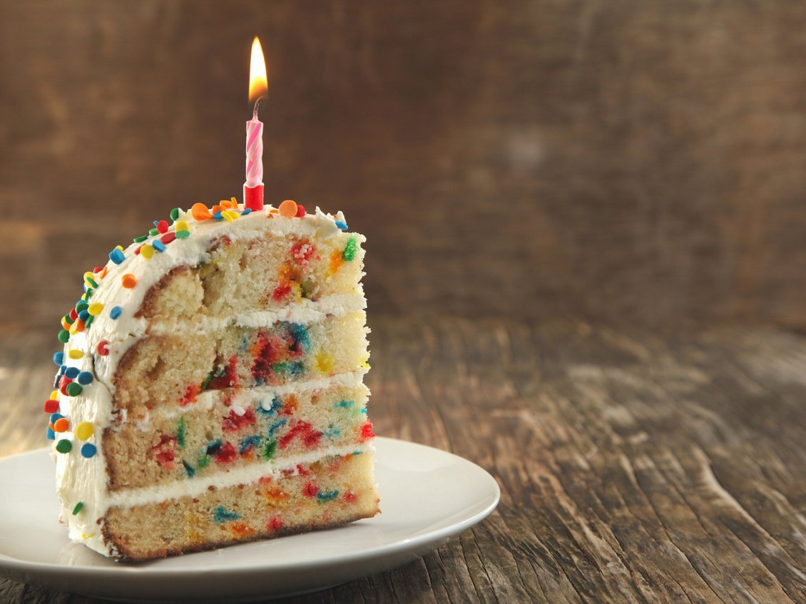 Download Wallpaper Delicious piece of birthday cake - HD wallpaper