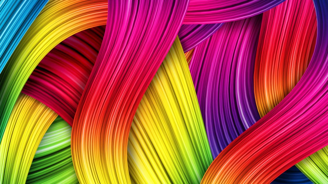 Download Wallpaper Colorful hair on the wall - Creative wallpaper