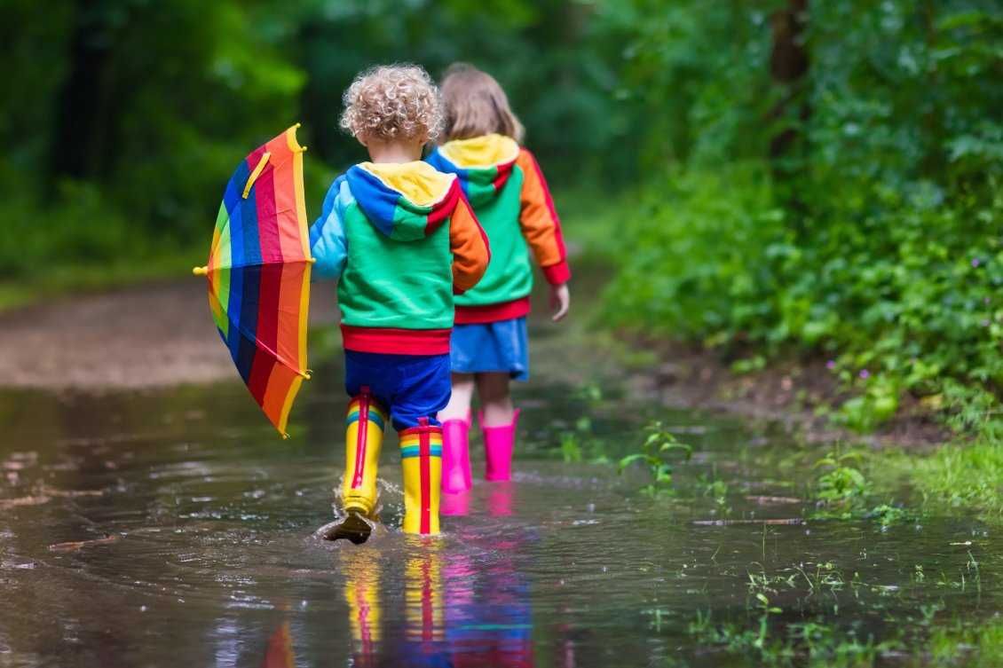 Audi Coffee Cup >> Colorful Autumn clothes for happy children -Play in the rain