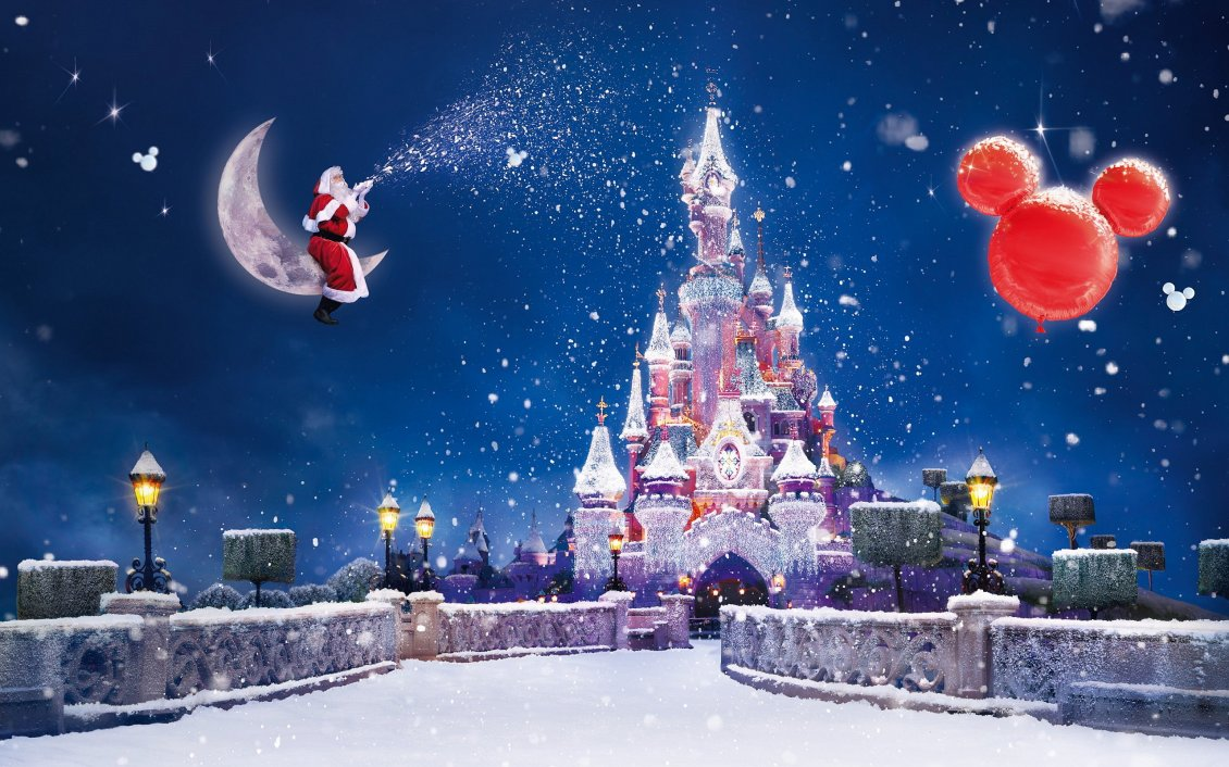 Download Wallpaper Happy winter holidays on Disneyland Paris - Merry Christmas