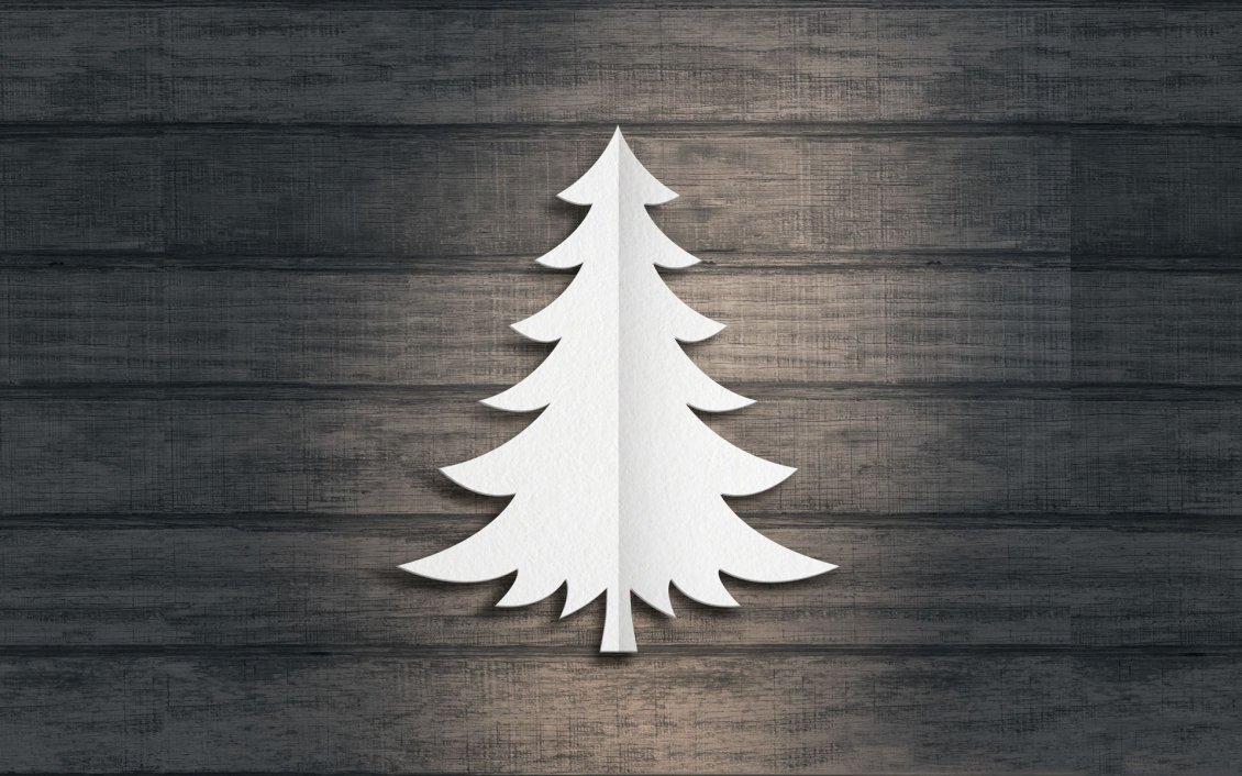 Download Wallpaper Paper Christmas tree - Happy winter holiday
