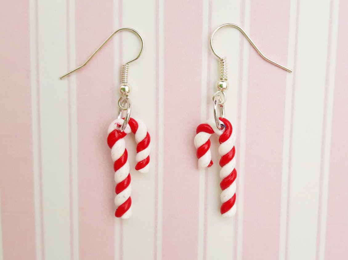 Download Wallpaper Candy earrings - Christmas time