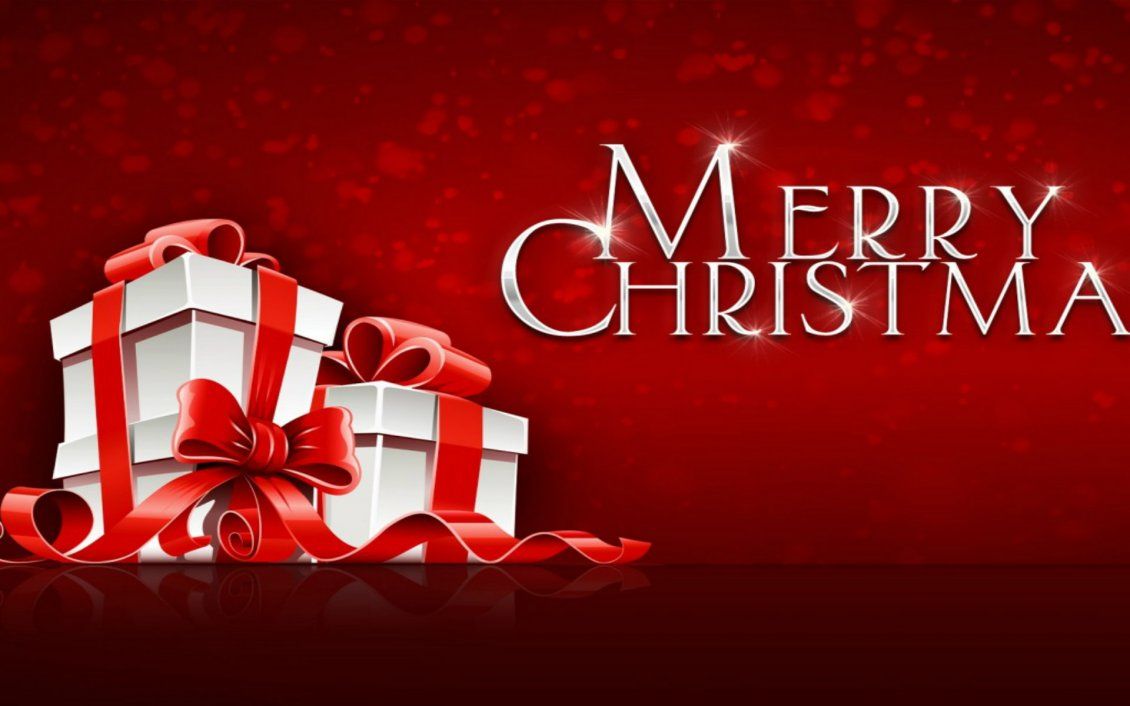 Download Wallpaper Merry Christmas - Gifts from Santa Claus with love