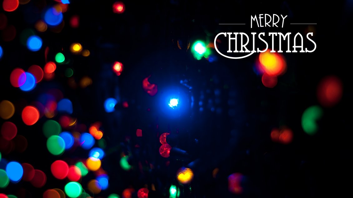 Download Wallpaper Christmas lights in the night - Happy winter holiday