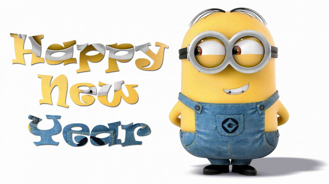 funny wallpaper with minion happy new year 2018