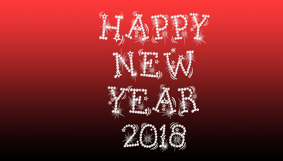 happy new year 2018 red and dark background