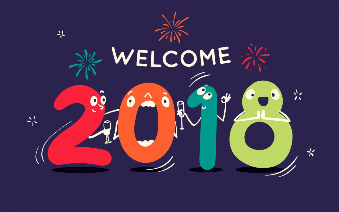 Download Wallpaper Welcome 2018 - Be a Happy and Good Year